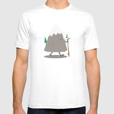 Lil' Hiker White Mens Fitted Tee MEDIUM
