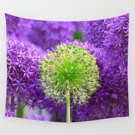 Violet green flower Wall Tapestry