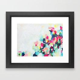 Little Hills 1 - Abstract landscape Painting Framed Art Print