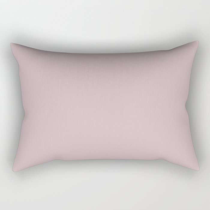 Sherwin Williams Trending Colors of 2019 Delightful (Pale Pastel Pink) SW 6289 Solid Color Rectangular Pillow