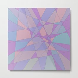 Shattered Purple & Pink Metal Print