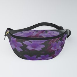Purple Contrast Color Pop Flower on Black and White Fanny Pack
