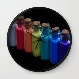 Powder Paint Pigments Wall Clock