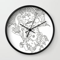 devil Wall Clocks featuring Devil by MissingPieceTattoo
