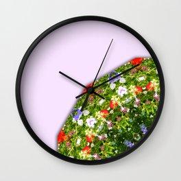 Wildflowers, Flower Mandala, Floral mandala-style Wall Clock