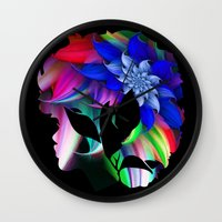 afro Wall Clocks featuring Afro by SmartyArt Chick
