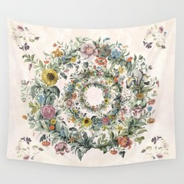 Circle of life- floral Wall Tapestry