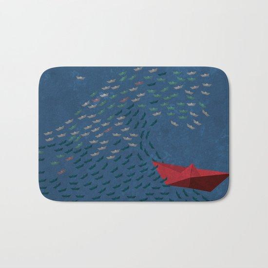 Origami Wave Bath Mat