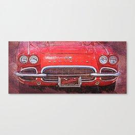 Vintage Red Vette Canvas Print