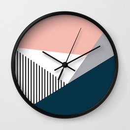 Colorful geometry 2 Wall Clock