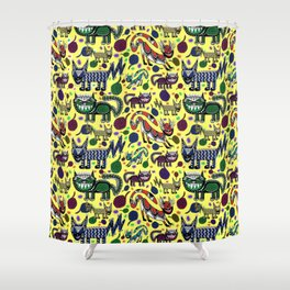 SNEAKY CATS Shower Curtain