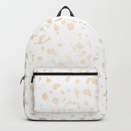 Luxe Gold Painted Dots on White Backpack