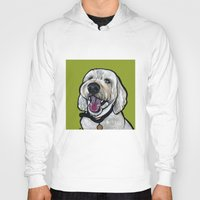 kermit Hoodies featuring Kermit the labradoodle by Pawblo Picasso