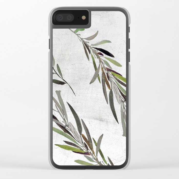 Eucalyptus Leaves White Clear iPhone Case