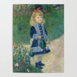 Girl with a Watering Can Poster