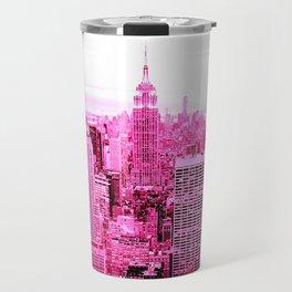 New York City Pink Travel Mug