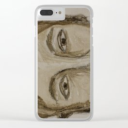 Portrait of a Guy Clear iPhone Case