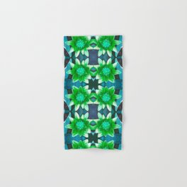 Blue Tropical Bromiliad Panel Hand & Bath Towel