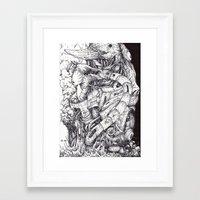 sleep Framed Art Prints featuring Sleep by Haslin