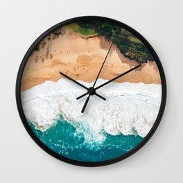 Waimea Bay Aerial Wall Clock