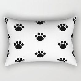 Puppy Dog Paw Prints Rectangular Pillow