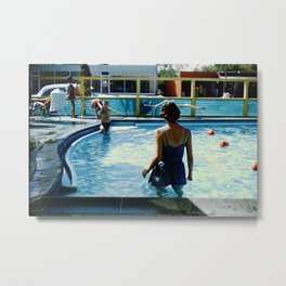 At The Pool Metal Print
