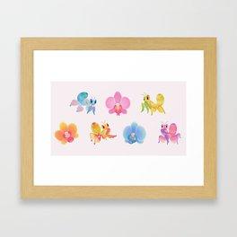 Orchid mantis Framed Art Print