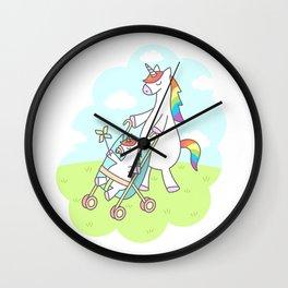 Unicorn Mama Wall Clock