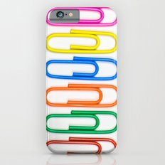 Colorful Paperclips Slim Case iPhone 6s