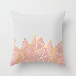 Pink & Gold Geometric Throw Pillow