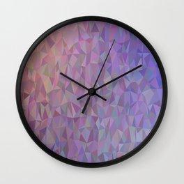 Geometric Mosaic Purple Abstract Wall Clock