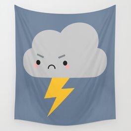 Kawaii Thunder & Lightning Cloud Wall Tapestry