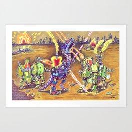 Dino Warzone Art Print