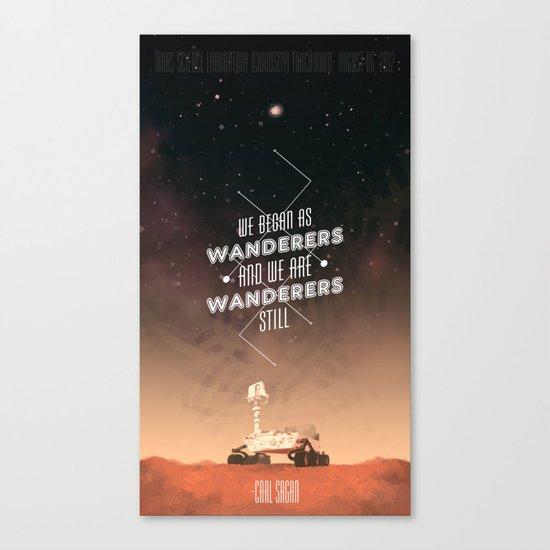Wanderers - MSL/Curiosity Commemoration Print Canvas Print