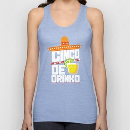 Cinco De Drinko Funny Cinco De Mayo T-Shirt Unisex Tank Top