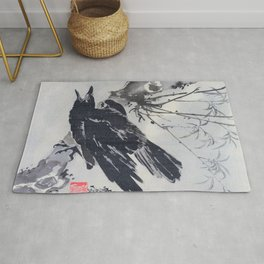 Crow On A Branch - Digital Remastered Edition Rug