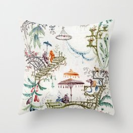 Enchanted Forest Chinoiserie Throw Pillow