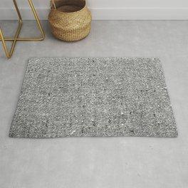 Coarse Grey Linen Rug