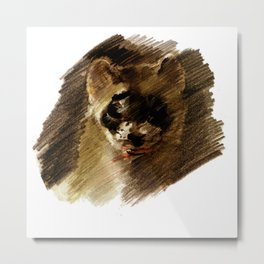 Black-footed ferret realistic (c) 2017 Metal Print