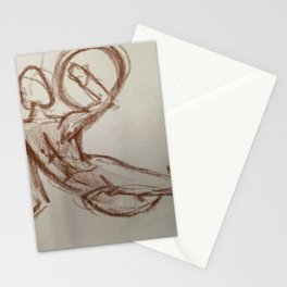 Nude Man With Shield Stationery Cards