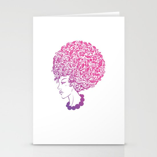 Ms. Floral Stationery Cards
