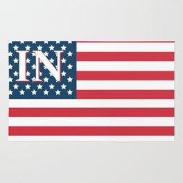 Indiana American Flag Rug