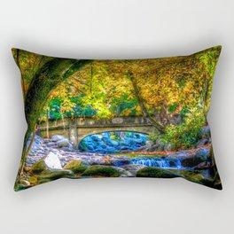 Image USA Ashland Oregon HDRI Autumn Nature Bridges Parks river Stones Trees HDR bridge park stone Rivers Rectangular Pillow