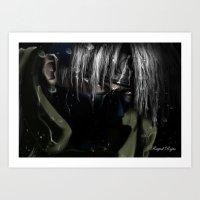 kakashi Art Prints featuring Hatake Kakashi by Raquel Rojas Gómez