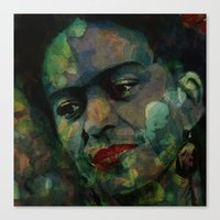 frida Canvas Prints featuring Frida by Paul Lovering Watercolors