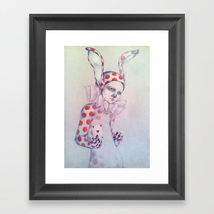 The card of hearts Framed Art Print