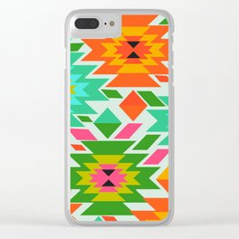 Ethnic with a tropical summer vibe Clear iPhone Case