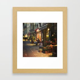 Evening in Provence Village Framed Art Print