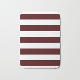 Bulgarian rose - solid color - white stripes pattern Bath Mat