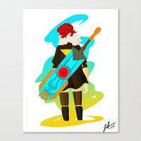 transistor Canvas Prints featuring Transistor by James Harrington
